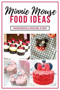 Delicious and adorable Minnie and Mickey Mouse food ideas! Mickey & Minnie Treats and Desserts. If you are throwing a Mickey Mouse party or decorating for a Minnie Mouse birthday bash Birthday Party Treats, 1st Birthday Party For Girls, Birthday Desserts, Party Desserts, Birthday Bash, Birthday Parties, Mickey Mouse Cookie Cutter, Mickey Mouse Treats, Mickey Mouse Cupcakes