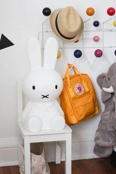 black and white nursery decor with miffy White Nursery, Nursery Art, Nursery Decor, Nursery Ideas, Bedroom Ideas, Room Decor, Art Corner, Kids Corner, Miffy Lamp