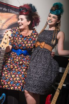 Guitar Dress and Equations Dress by Silly Old Sea Dog in UK sizes 6-24