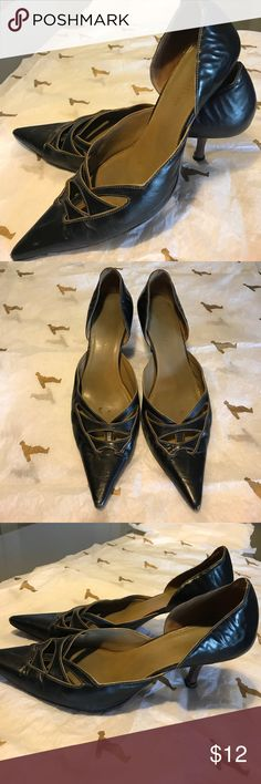 """Cole Haan leather comfortable small stiletto heels 2"""" heels. Some wear see pics. Smoke free home. Cole Haan Shoes Heels"""