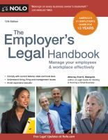 Cover image for The employer's legal handbook