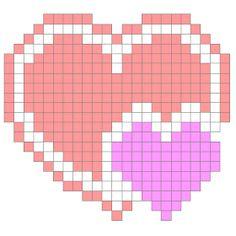 Mais uma semana, mais um gráfico ponto cruz. Desta vez escolhi um coração facinho, facinho de bordar.   É um coração bem pequenininho, mas ... Cross Stitching, Cross Stitch Embroidery, Cross Stitch Patterns, Quilt Patterns, Butterfly Cross Stitch, Cross Stitch Heart, Graph Crochet, Crochet Motif, Pixel Art