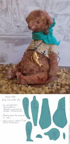 Видео мастер-класс: шьем мишку Тедди в винтажном стиле. Урок 1 - Ярмарка Мастеров - ручная работа, handmade