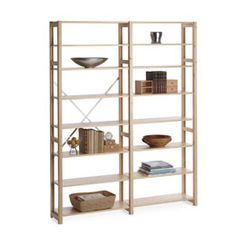 FOR KITCHEN, how much would it cost to build what we need? The Container Store > Skandia™ Simple Shelving Entertainment Center Kitchen, Entertainment Room, Furniture Makeover, Diy Furniture, Custom Closets, Container Store, Home Organization, Organizing, Modern Room