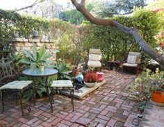 small garden patio