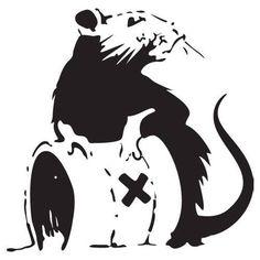 Banksy Rat With Toxic Waste Barrel | Die Cut Vinyl Sticker Decal | Sticky Addiction