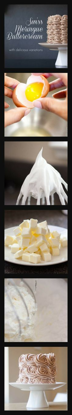 Swiss Meringue Buttercream tutorial with step by step pictures and over 16 flavor variations