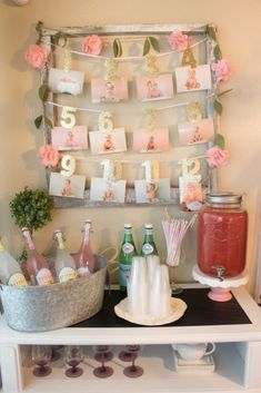 Pink and Gold First Year Photo Banner via Pretty My Party
