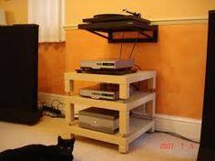 turn ikea lack tables into custom component rack hifi pinterest ikea lack table audio and. Black Bedroom Furniture Sets. Home Design Ideas