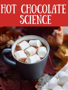 Easy Hot Chocolate Science Experiment for kids, perfect for a Winters Day #kitchenscience #christmasscience #winterscience