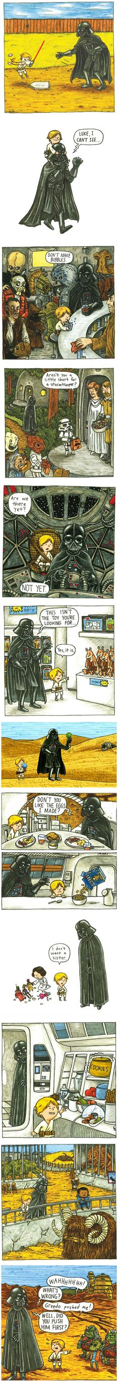 Awww, Vader could have been such a good Dad.