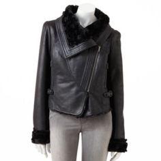 Jennifer Lopez Faux-Suede Bomber Jacket - Women's @ Kohls