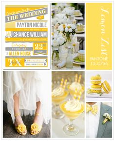 lemon zest wedding inspiration board from Wedding Paper Divas Wedding Trends, Wedding Designs, Wedding Ideas, Sister Wedding, Our Wedding, Wedding Season, Wedding Stuff, Floral Wedding, Wedding Colors