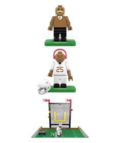 Texas Longhorns Charles & Hook 'Em Minifigure Block Set