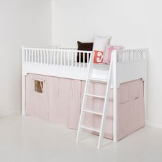 Seaside Low Loft Bed in White from Oliver Furniture
