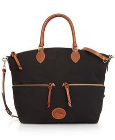 628f4722ddf Dooney   Bourke Nylon Large Pocket Satchel - Black Satchel Handbags
