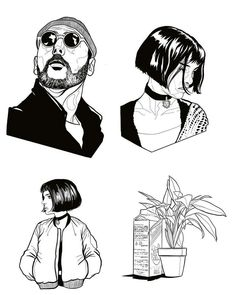 Leon the Professional fanart Tattoo Sketches, Tattoo Drawings, Art Sketches, Art Drawings, Tattoo Art, Leon The Professional, Professional Tattoo, Art Et Design, Tattoos Geometric