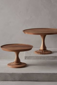 Handcarved Acacia Cake Stand The Small One