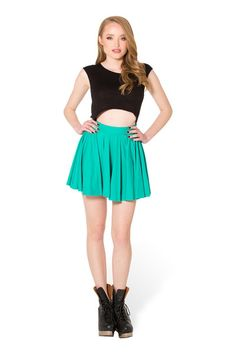 Matte Jade Cheerleader Skirt - LIMITED › Black Milk Clothing