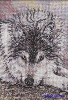 Bucilla Heirloom Counted cross stitch  WATCHFUL WAITING