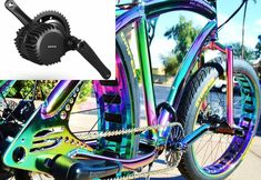 FAT TIRE E BIKE Electric Beach Cruiser Bike 1000W 48V CHROME OILSLICK STOMPER 3S #SOUL