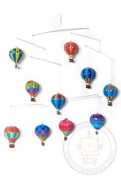 Hot Air Balloons Tin Mobile at TinToyArcade.com SO would be cool as a baby mobile!!! And perfect for what I always wanted it to be