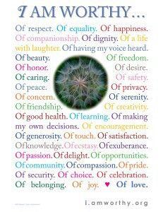 AFFIRMATIONS - I am worthy (Self belief, self esteem & self worth + positive psychology))