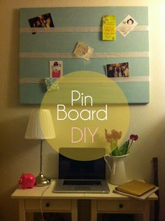 How to make your own cute pin board.  #DIY #pinboard