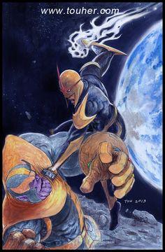 Nova vs Thanos by studiotou.deviantart.com on @DeviantArt