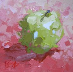 Green on Pink, 326, painting by artist David Boyd, Jr