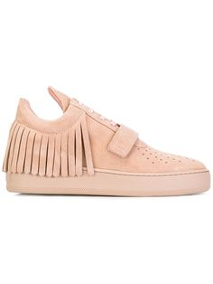 Filling Pieces - fringed sneakers - women - Leather/Suede/rubber - 36, Pink/Purple