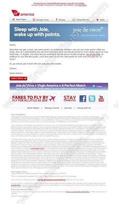 Company:  Virgin America   Subject:  Sleep with Joie, wake up with points.             INBOXVISION providing email design ideas and email marketing intelligence.    www.inboxvision.com/blog/  #EmailMarketing #DigitalMarketing #EmailDesign #EmailTemplate #InboxVision #Emailideas #NewsletterIdeas