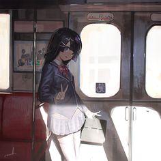Real Anime, Dark Anime, Animated Cartoons, Cool Cartoons, Anime Art Girl, Manga Girl, Anime Girls, Character Illustration, Illustration Art