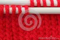 Red knitting bamboo knitting needles