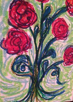 Fine art pop-impressionism oil pastels by Julie Hollis resident artist @ Fall Creek Gallery #fallcreekgallery #pastels #artist #popimpressionism #juliehollis #ranunculus