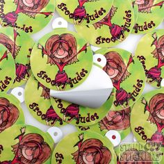 Groovy Judes Custom Sticker Hang Tags - StandOut Stickers
