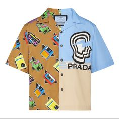Prada Delivers Four New Graphic-Clad Bowling Shirts for Mens Bowling Shirts, Unisex Looks, Night Suit, Prada Men, Gucci, Shirt Jacket, Polo Shirt, Lounge Wear, Cute Outfits