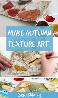 how to make autumn art Nature Crafts, Fall Crafts, Crafts For Kids, Autumn Art, Texture Art, Kids Meals, Crafty, Activities, Creative