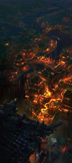 Asian fantasy art, digital illustrations and character studies. Amazing matte paintings có thể lấy làm tư liệu vẽ cảnh được