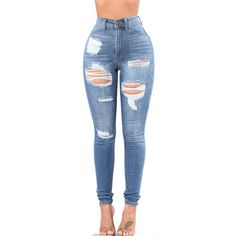 The jeans feature high waist and stretch ripper. The jeans feature zipper fly and pockets. The jeans are slim and destroyed. With the popular style and look, you'll be more attractive in it. Orange Jeans, Blue Jeans, Light Blue Skinny Jeans, Lässigen Jeans, Jeans Bleu, Low Rise Skinny Jeans, Casual Jeans, Colored Jeans, White Jeans