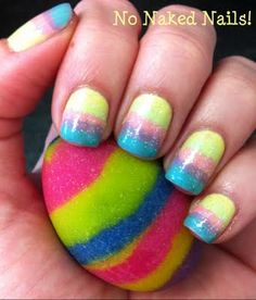 Easter egg nail polish & nail art