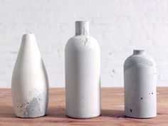 How to Make Your Own Concrete Vase: With a little bit of know-how (and a few recyclables) you can DIY this chic decorative accessory. via @domainehome