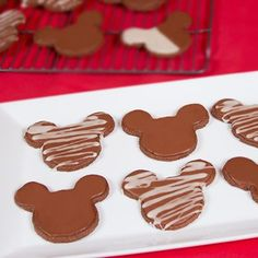"Mickey Mouse Chocolate Cookies recipe... all you need is the cute cookie cutter! This would be cute as a ""Cookie & Hot Chocolate"" package. (See Cookie & Tea package for reference) -Antoinette, Adapt Mag Contributing Writer"