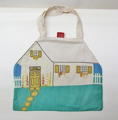 Vintage hosiery bag  1920's cottage with by mathildasattic on Etsy