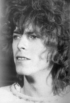 David Bowie 60s. Curley hair :)