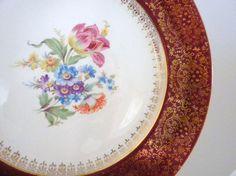 Vintage Homer Laughlin 22 Carat Gold Trimmed Plate by oldandnew8, $15.00