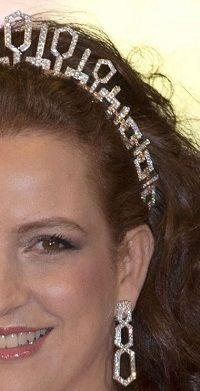 princesse Lalla Salma, épouse du Roi Mohamed VI of Morocco - unusual diamond tiara.