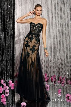 Prom DressesEvening Dresses by Black Label for Alyce Collection5609Sweetheart Sheer!