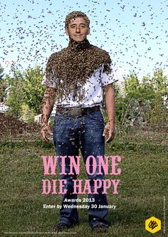 Win one die happy Print Ads, Poster Prints, Posters, Call For Entry, Awards, Celebrities, Creative, Happy, Inspiration