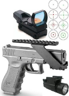 Special Offers - Ultimate Arms Gear Tactical 3 pc Combo Combination Package Kit Set Pistol Includes Precision Machined Aluminum No Gunsmithing Weaver Picatinny Top & Bottom Rail Pistol Handgun Scope Mount for Sights  Lasers  Lights and Accessories Fits Taurus & Springfield Armory XDM 3.8 4.5 XD (4&5 Barrel) Pistols with Front Accessories Rail  Tactical CQB Pistol Red-Green 4 Reticle Red Dot Open Reflex Sight/Scope  Find our speedloader now!  http://www.amazon.com/shops/raeind